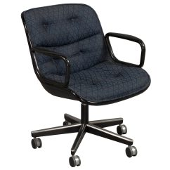 Knoll Pollock Chair Chippendale Rocking Conference Blue Pattern National