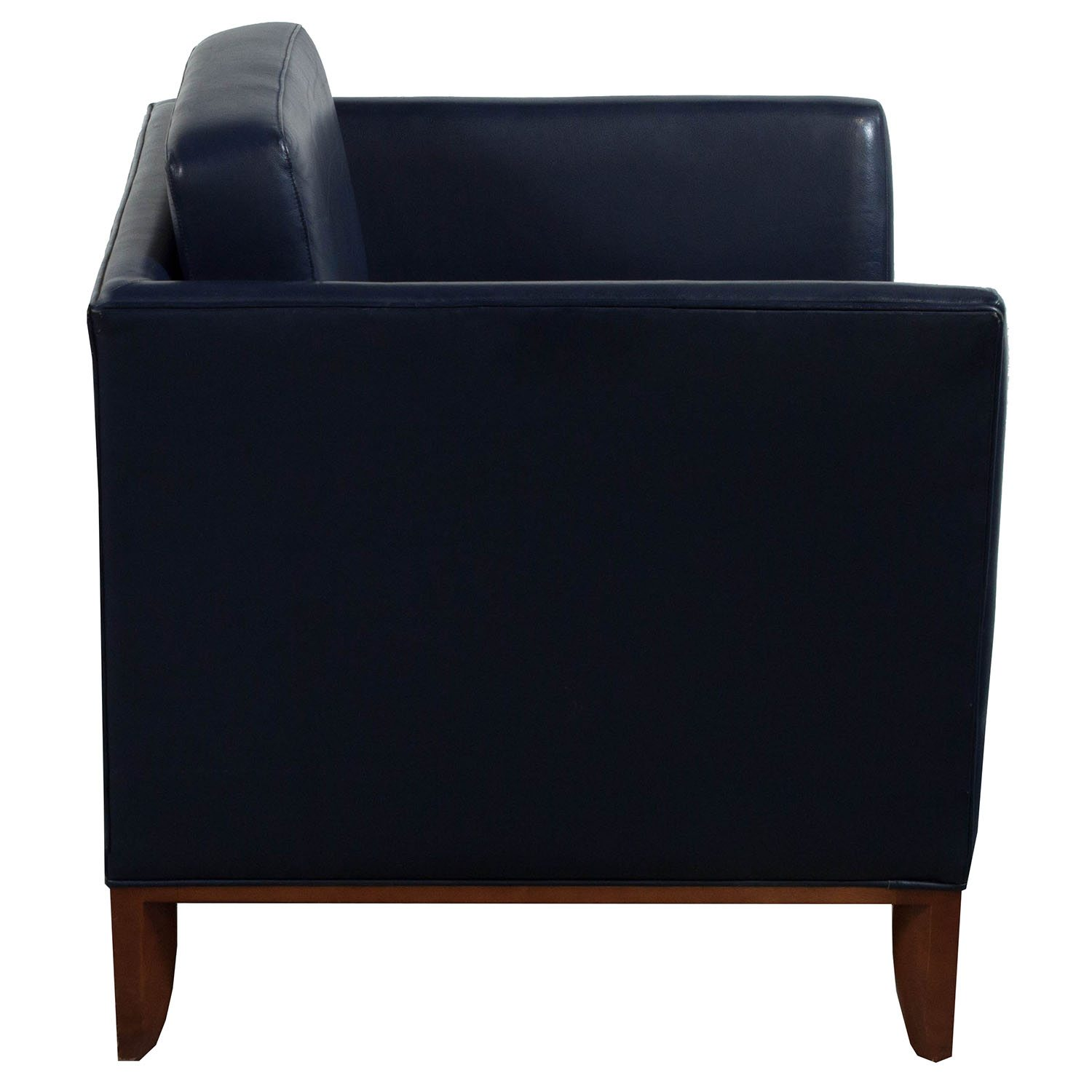 Bernhardt Used Leather Reception Chair Blue  National