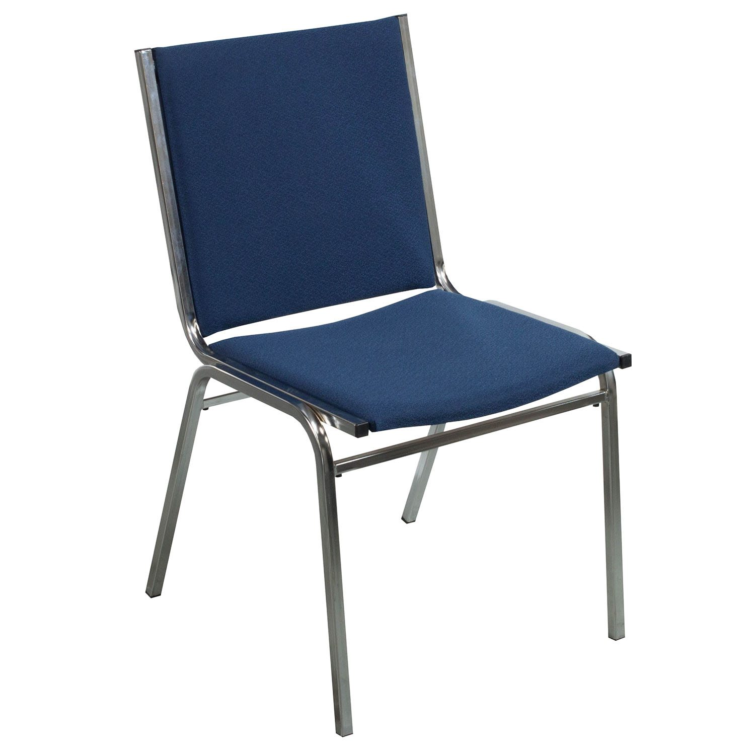 Global Used Armless Stack Chair Denim Blue  National