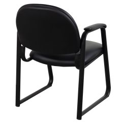 Leather Side Chair Osaki 7075r Massage Review Global Used Black National Office