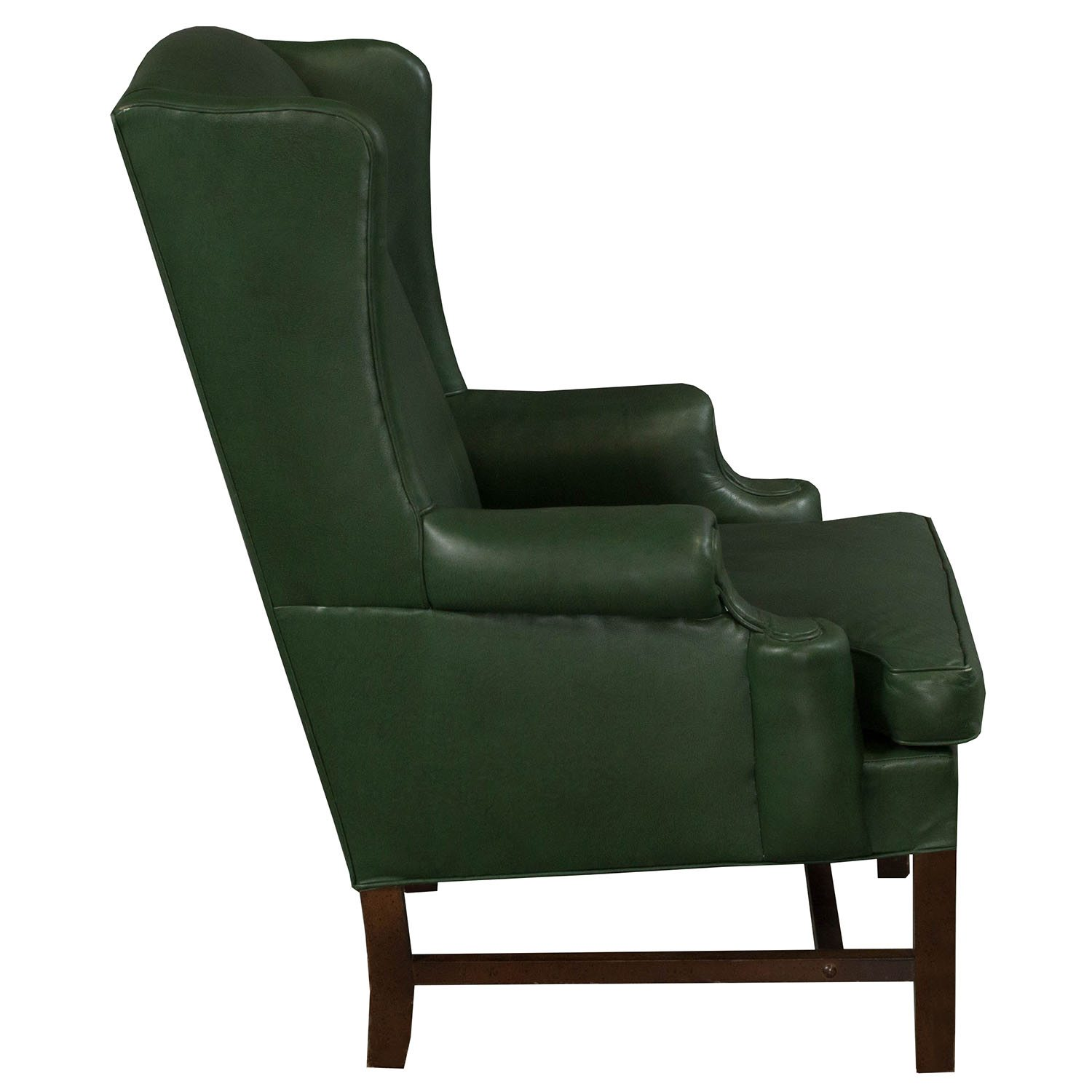 traditional leather wingback chair jet 7 power wing used side green national