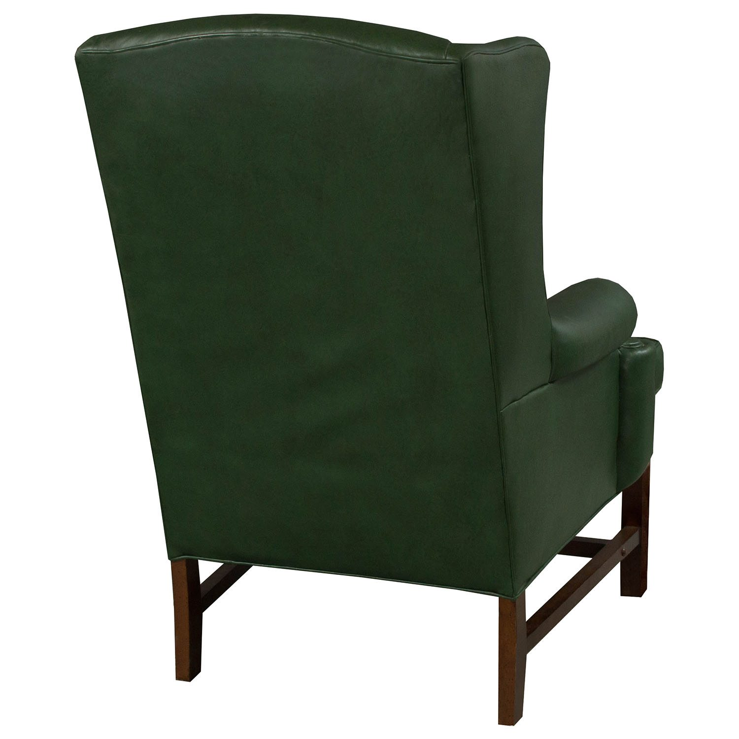 Used Wingback Chairs Traditional Wing Used Leather Side Chair Green National