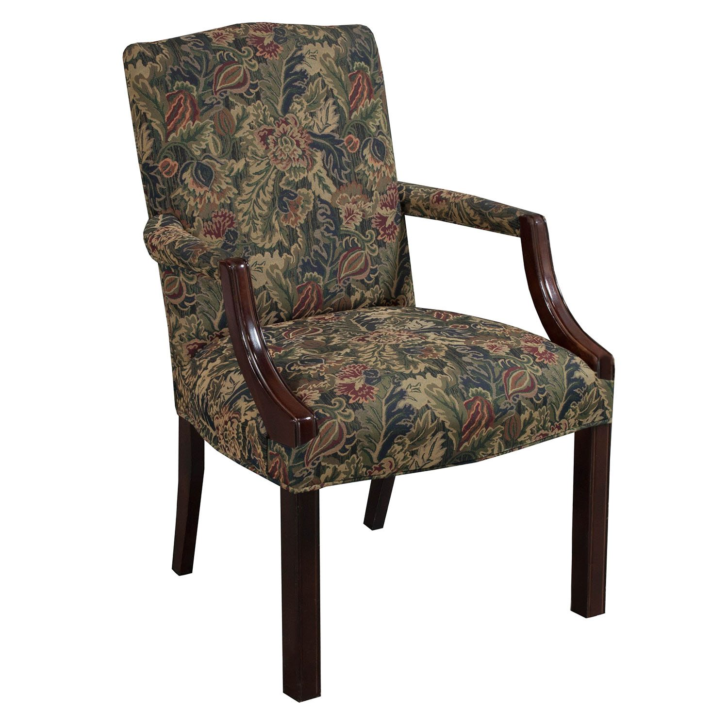 Kimball Independence Suffolk Used Side Chair Floral