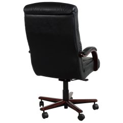 La Z Boy Black Leather Executive Office Chair Uk Hair On Hide Dining Chairs Horizon Used High Back Wood Conference