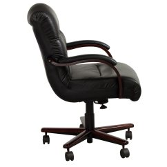 La Z Boy Black Leather Executive Office Chair Uk Target Wingback Covers Horizon Used Mid Back Wood Conference