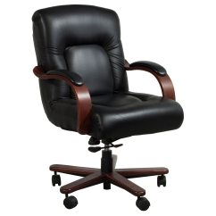 La Z Boy Black Leather Executive Office Chair Uk Pedicure Spa Chairs Australia Sintas Used Mid Back Wood Conference