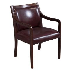 Leather Side Chair Covers Party Supplies Stout Used Walnut Burgundy National