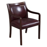 Stout Used Walnut Leather Side Chair, Burgundy | National ...