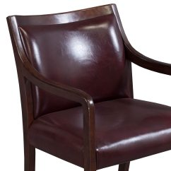 Leather Side Chair Salon Hair Wash Size Stout Used Walnut Burgundy National