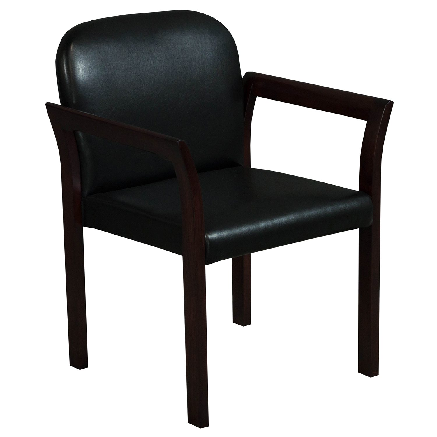 side chairs for office pottery barn kids anywhere chair slipcover gunlocke used mahogany leather stack black