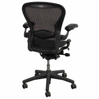 Herman Miller Aeron Used Size B Leather Arm Task Chair ...