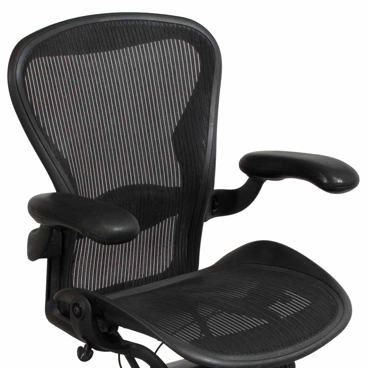 aeron chair accessories best outdoor rocking herman miller used size b leather arm task