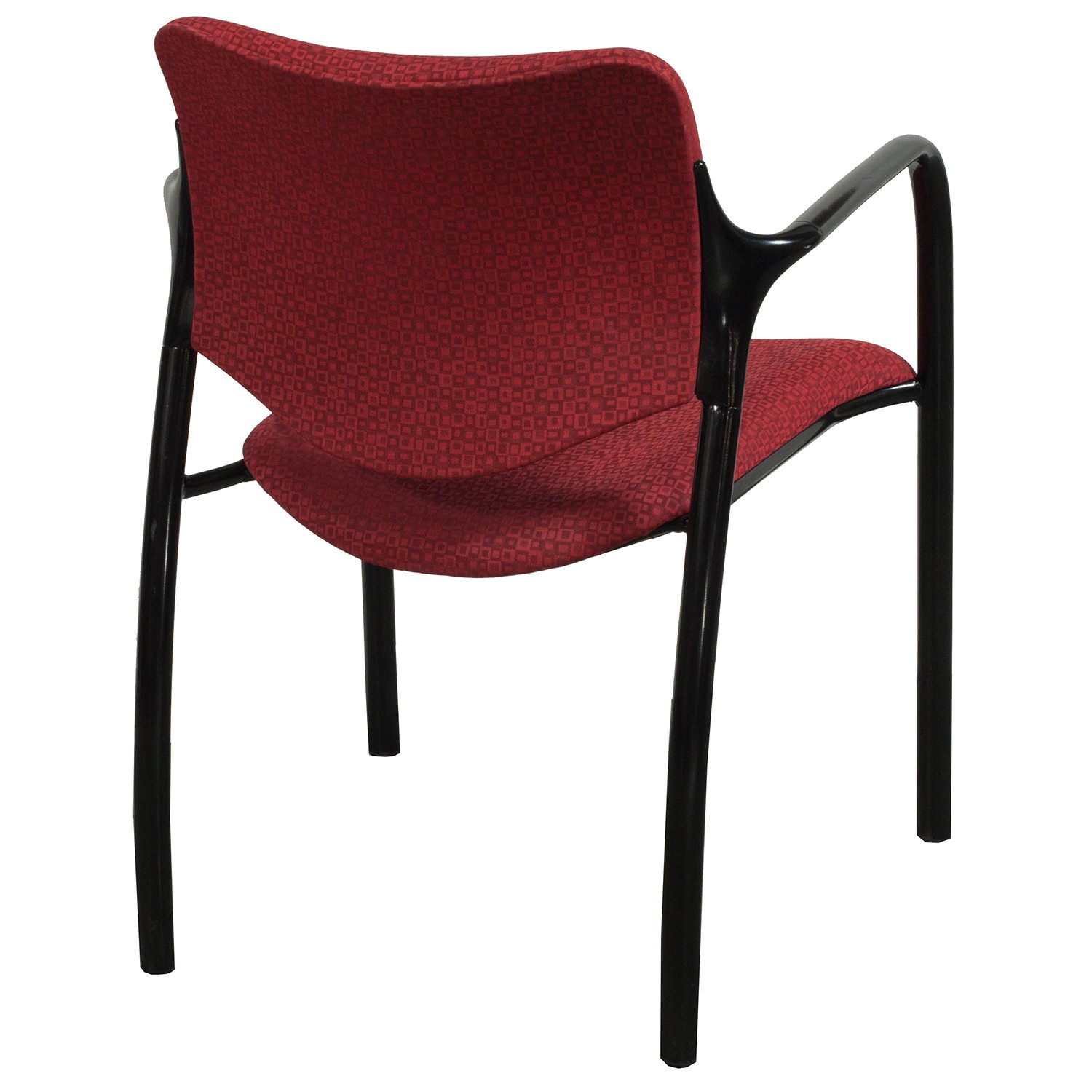 herman miller stacking chairs ergonomic chair grainger aside used stack red pattern
