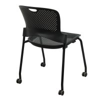 Herman Miller Caper Used Armless Mobile Stack Chair, Black