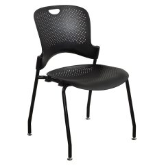Herman Miller Stacking Chairs Recliner For Sale Caper Used Armless Stack Chair Black