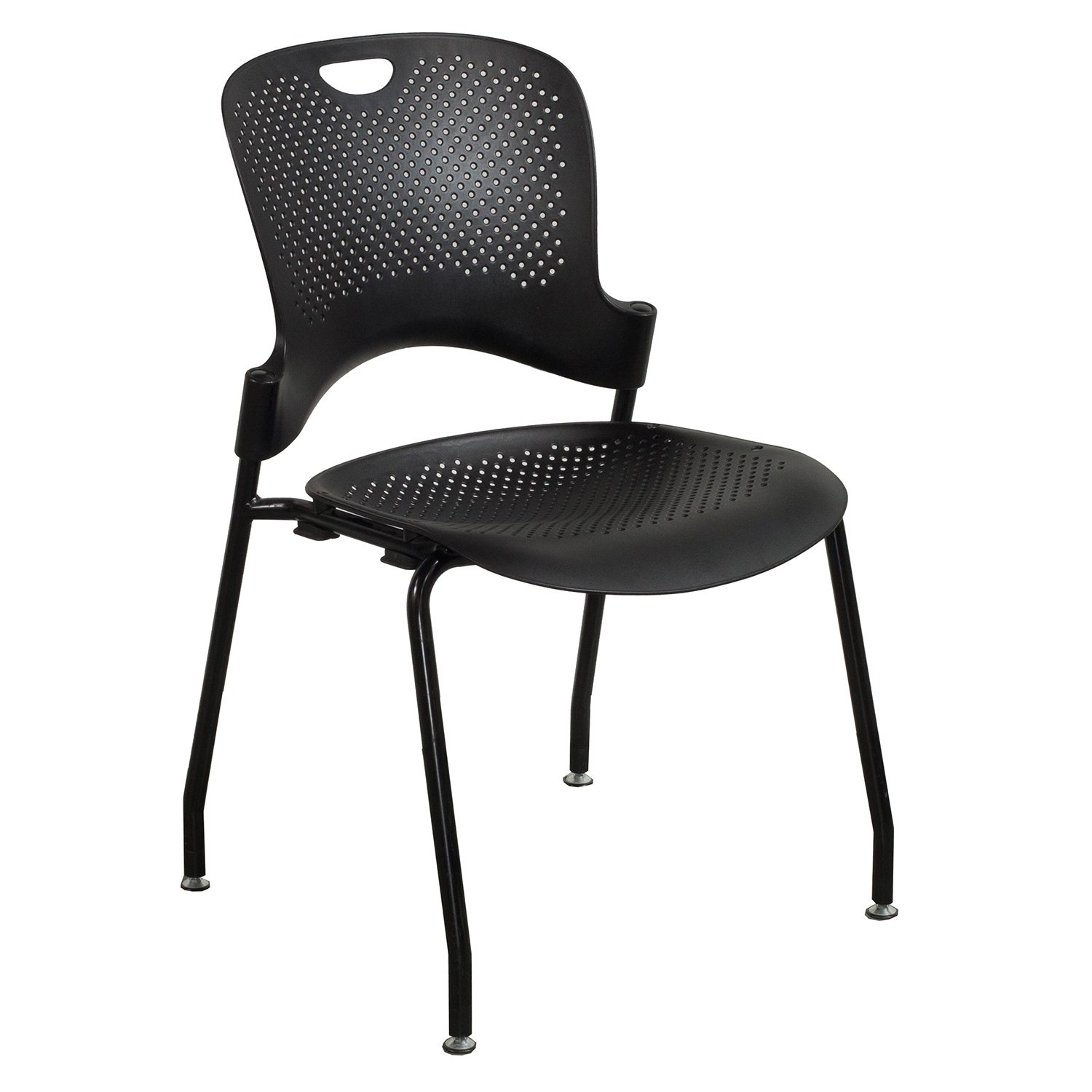 Caper Chair Herman Miller Caper Used Armless Stack Chair Black