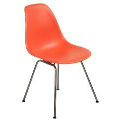 Orange Side Chair Outdoor Tolix Herman Miller Eames Molded Plastic Red