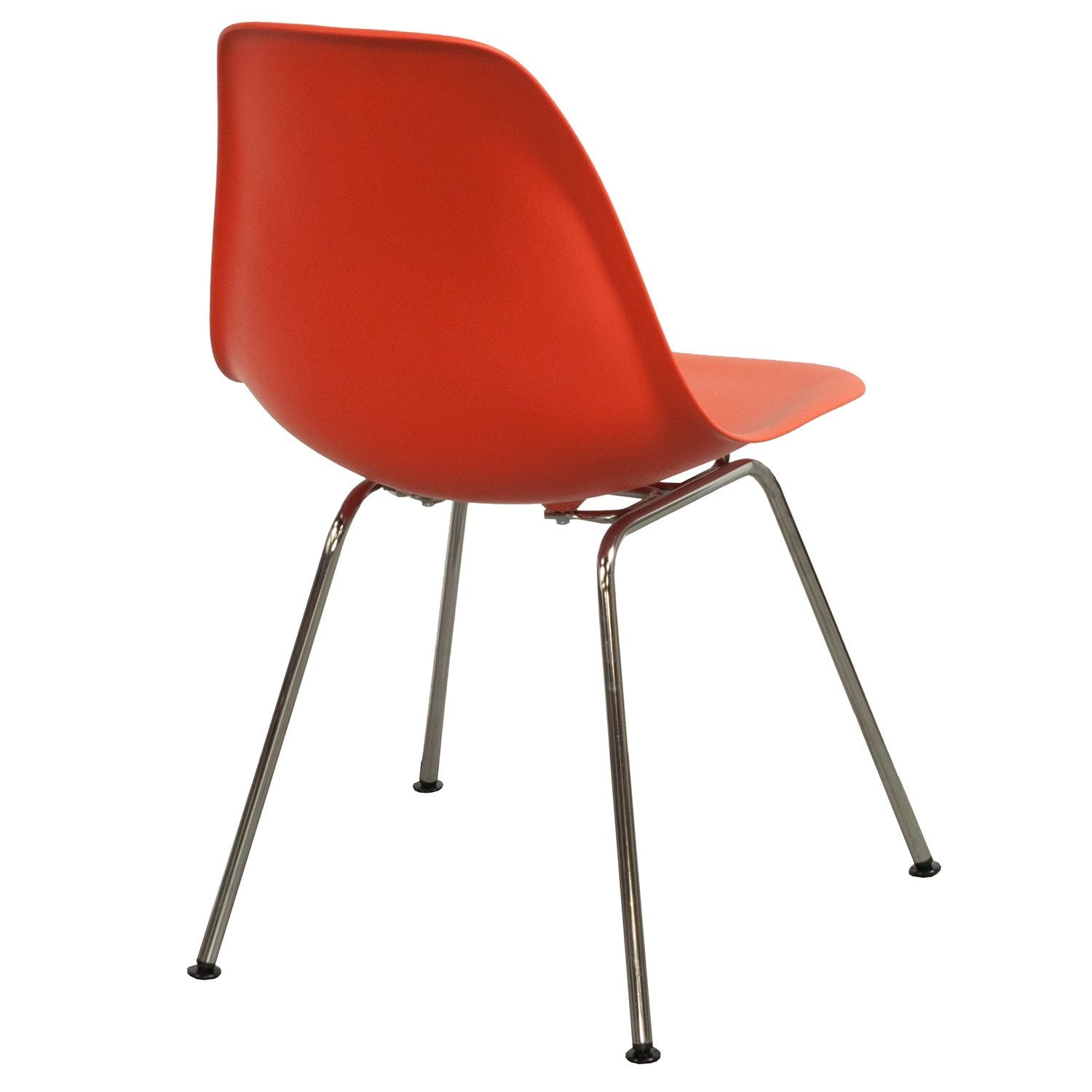 plastic molded chairs rubberwood butterfly table with 4 herman miller eames side chair red orange