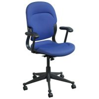 Herman Miller Equa High Back Used Conference Chair, Blue