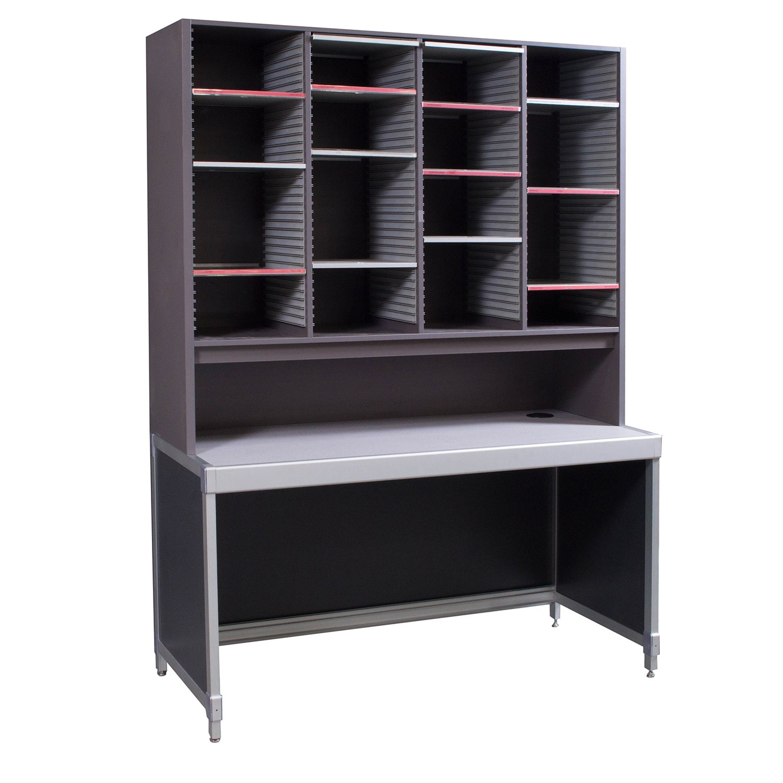 Laminate Used Mail Sorter Storage Desk Gray  National