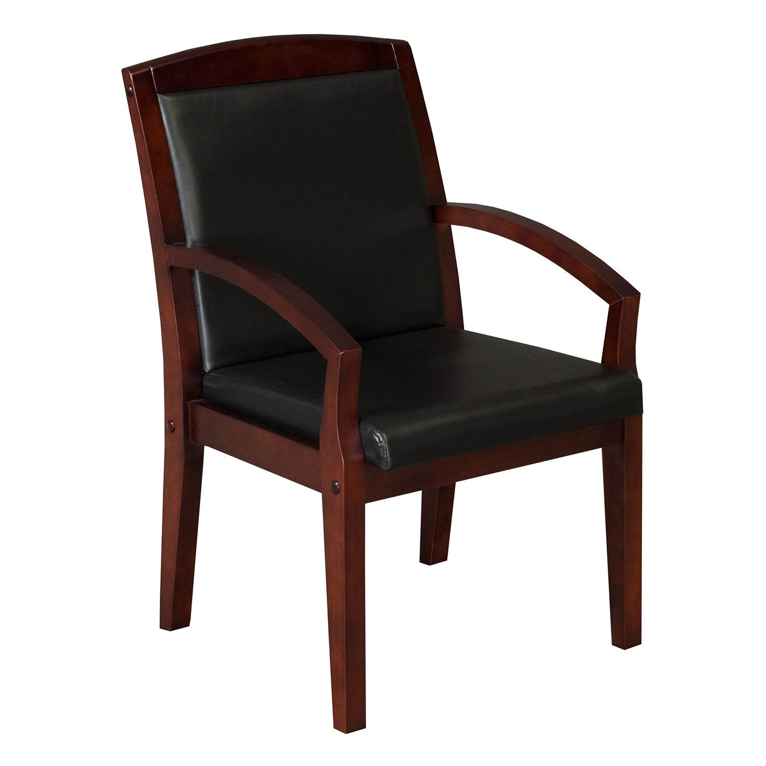 Cherry Chairs Anchor By Gosit New Executive Pu Leather Wood Side Chair