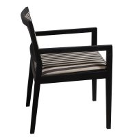 Bernhardt Clark Used Wood Side Chair, Stripe
