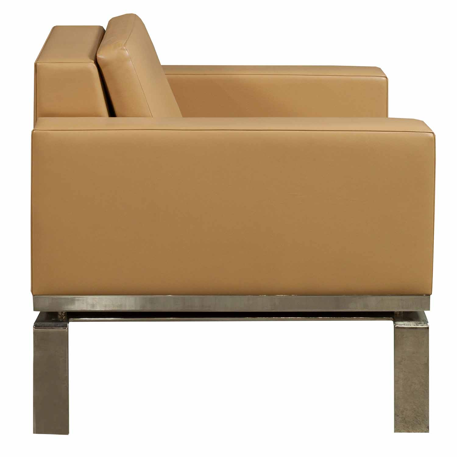 Bernhardt One Series Used Leather Reception Chair Tan