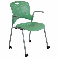 Herman Miller Caper Chair Covers Set Of 6 Used Mobile Stack Chair, Green | National Office Interiors And Liquidators