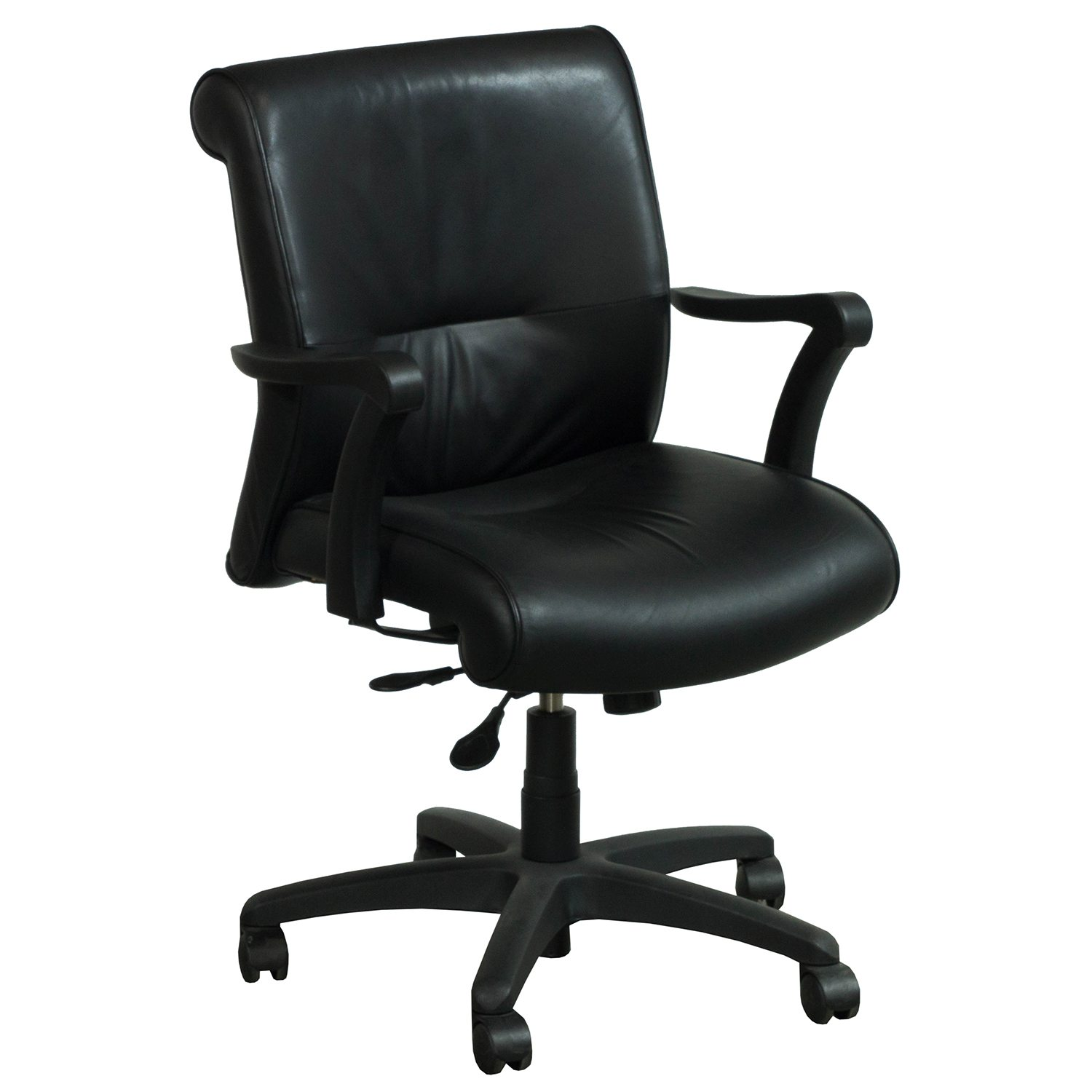 Leather Conference Room Chairs Krug Used Mid Back Leather Conference Chair Black
