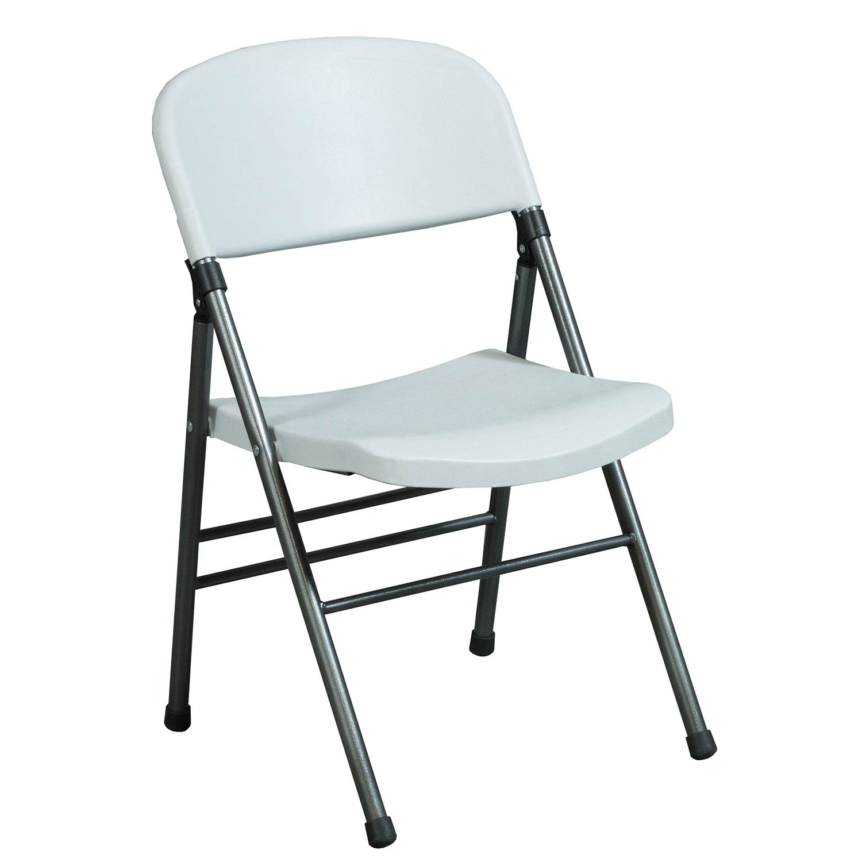 Bridgeport Used Plastic Folding Chair White  National