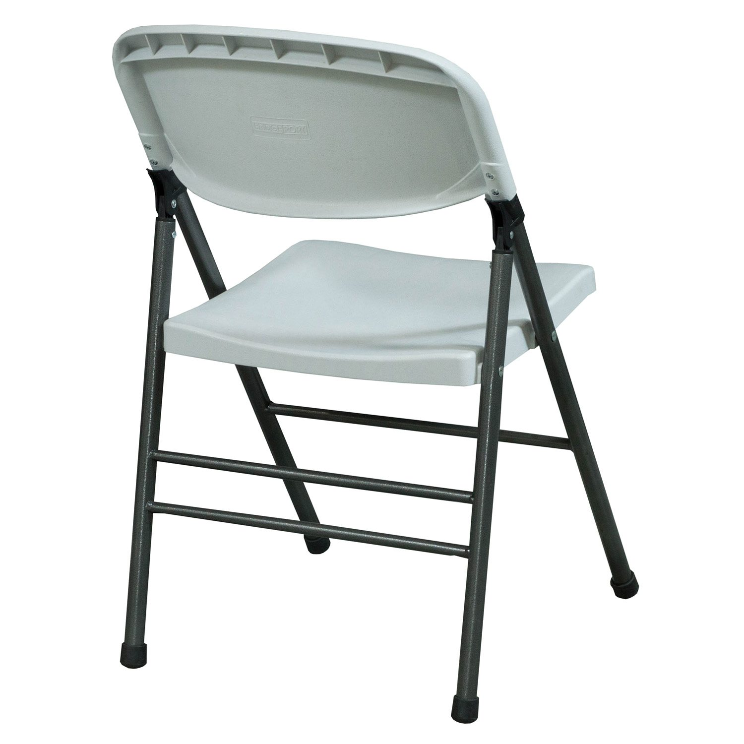 folding chair nylon wooden office on wheels bridgeport used plastic white national