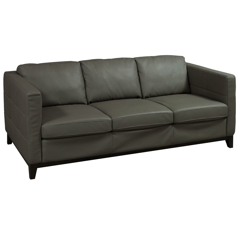 Jason Furniture Used Leather Sofa, Brown
