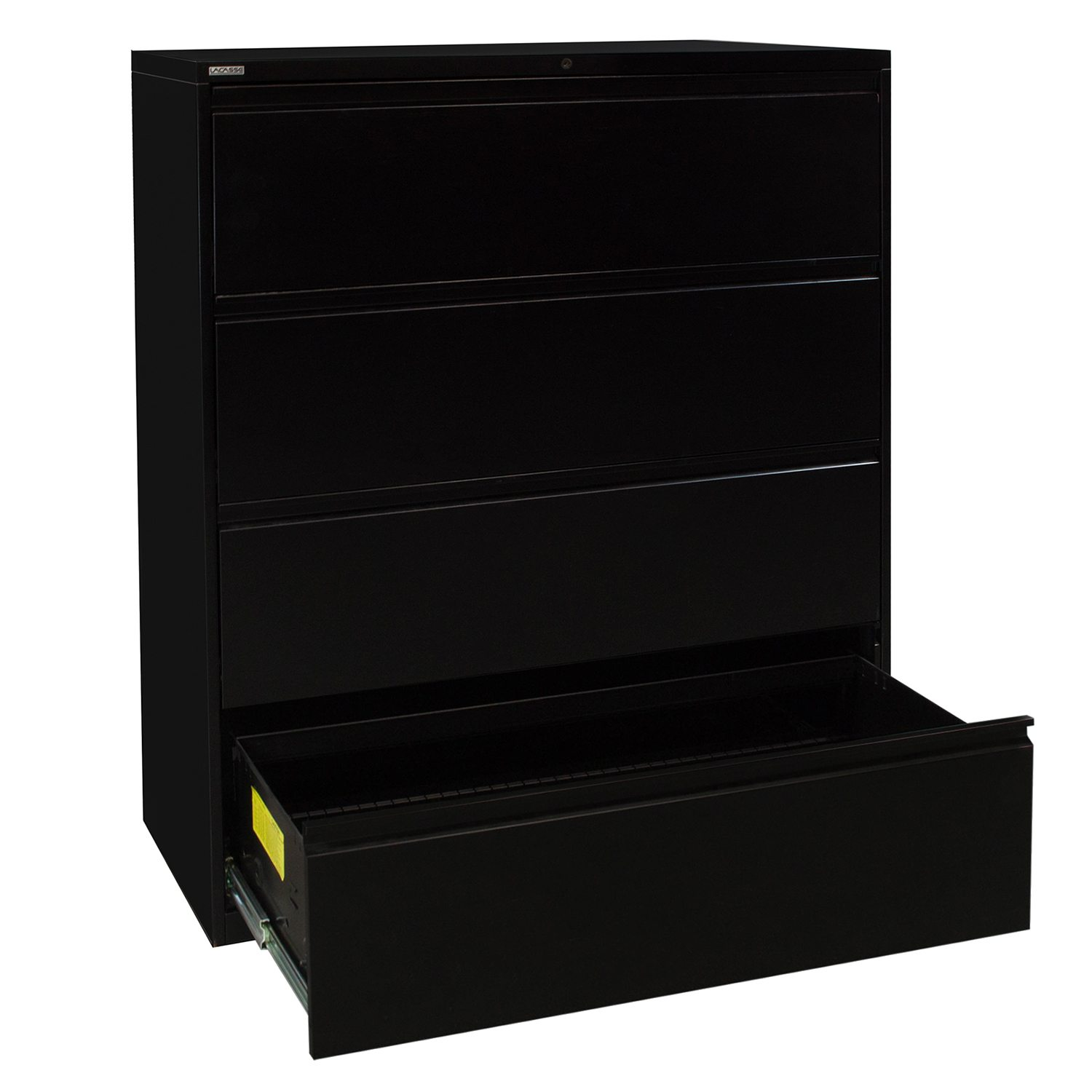 LaCasse Used 42 Inch 4 Drawer Lateral File Black