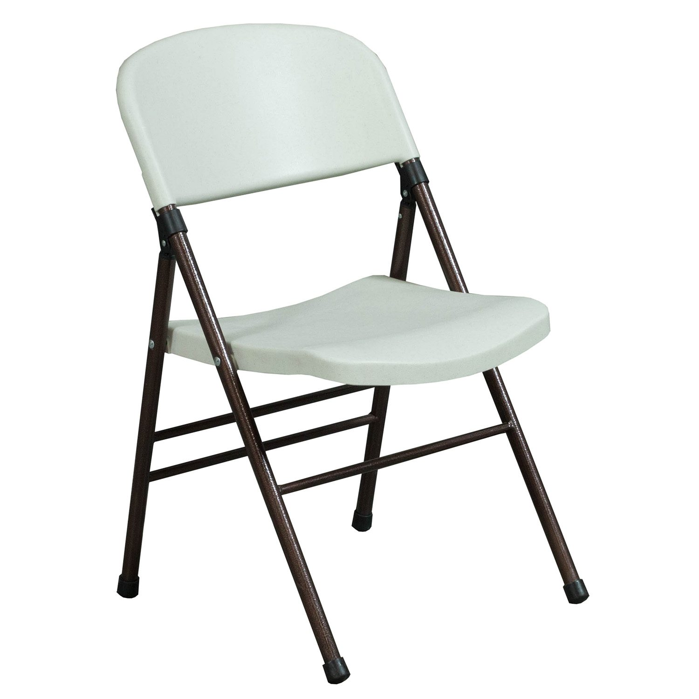 Samsonite Used Plastic Folding Chair White  National