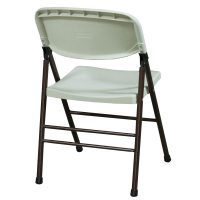 Samsonite Used Plastic Folding Chair, White | National ...