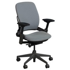 Steelcase Leap Chair Ergonomic Kota Kinabalu V2 Used Task Gray National Office