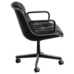Knoll Pollock Chair Theater Seat Covers Used Leather Conference Black