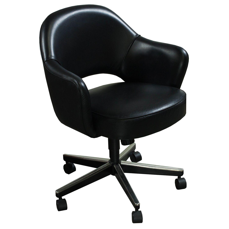 Knoll Saarinen Used Leather Executive Chair Black