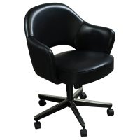 Knoll Saarinen Used Leather Executive Chair, Black