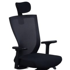 Add On Headrest For Office Chair Power Recliner Chairs Canada Navigator By Gosit Ergo Task W Black