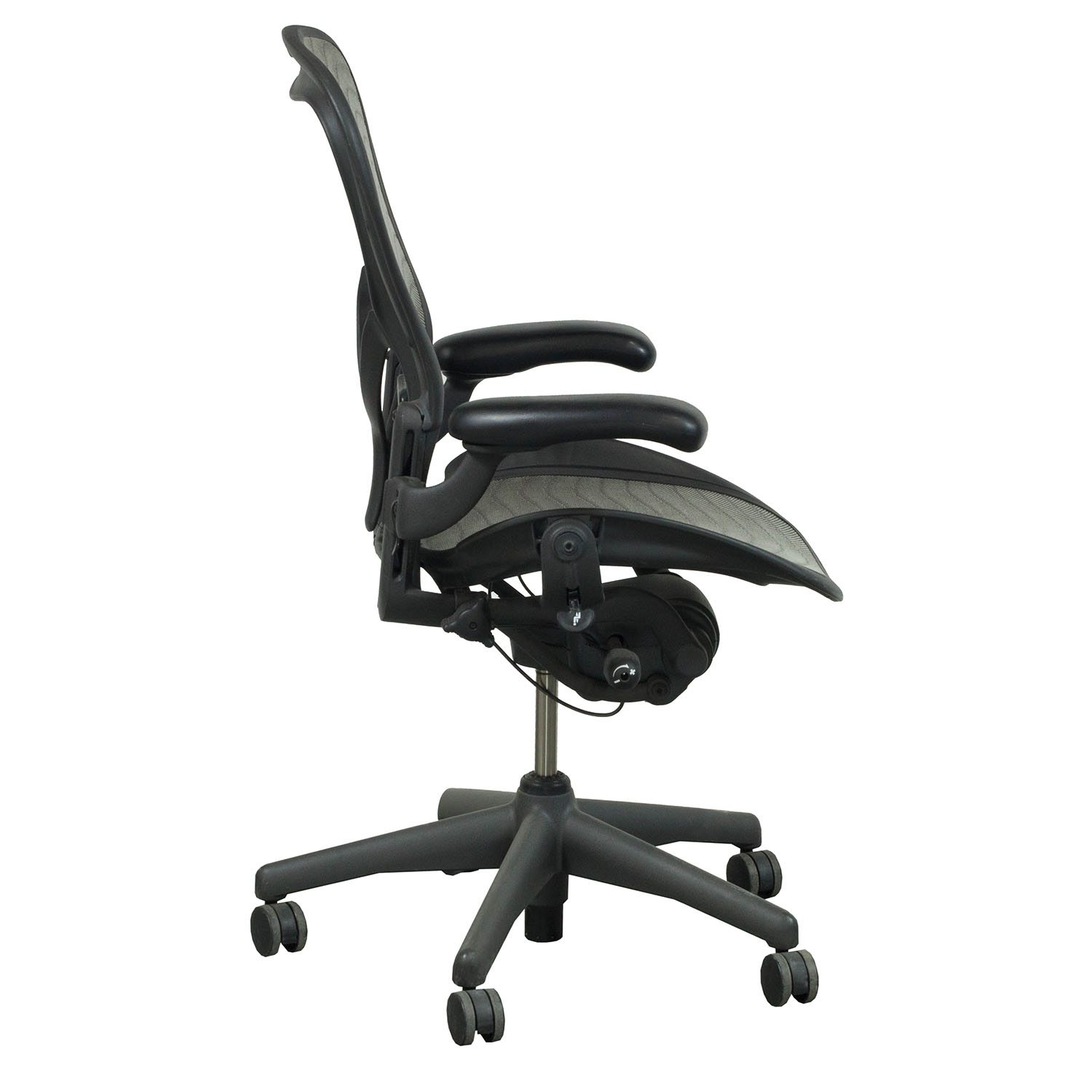 posturefit chair swivel explosion herman miller aeron used size b posture fit task