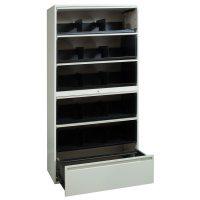 Storwal Used 36 Inch 6 Door Open Shelf Storage, Creme ...