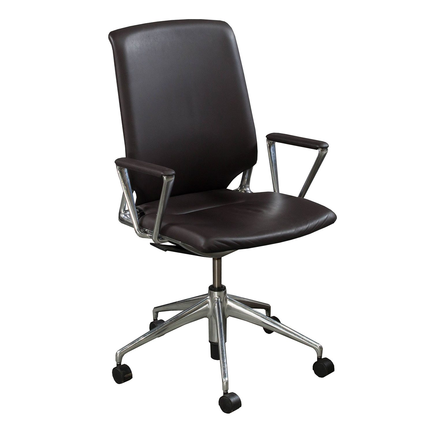 Leather Conference Room Chairs Vitra Used Leather Conference Chair Brown National