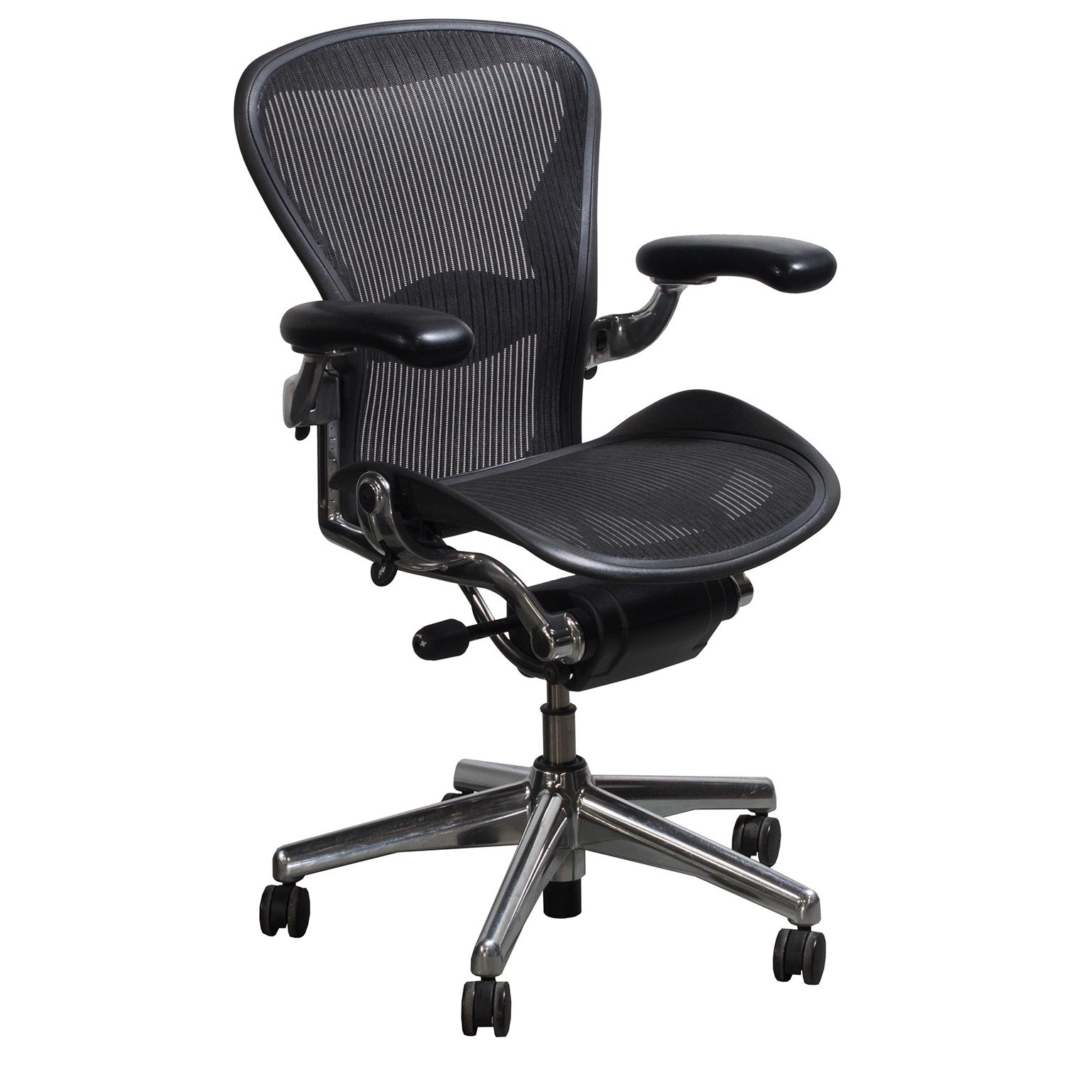 aeron chair sizes diy gaming race herman miller used aluminum base size b task