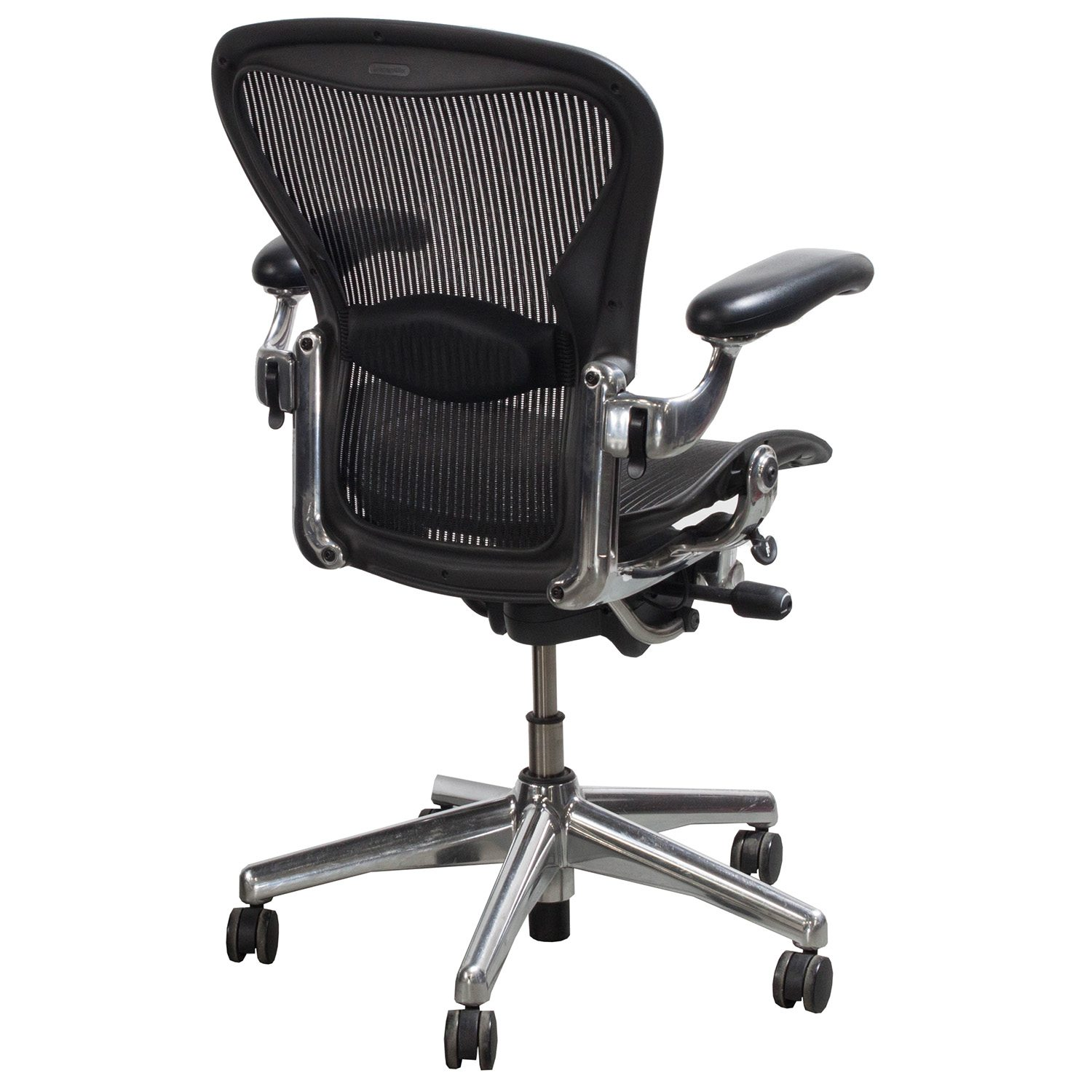 aeron chair accessories baby learning herman miller used aluminum base size b task