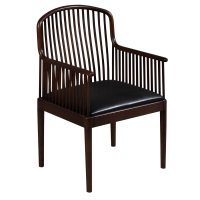 Knoll Exeter Used Vintage Wood Side Chair, Espresso ...