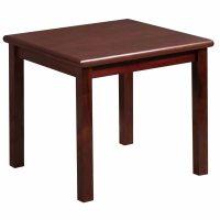 Steelcase Used 24 Inch Veneer Square Table, Mahogany
