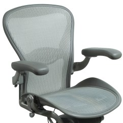 Aeron Chair Accessories The Big Dc Herman Miller Used Size C Task Quartz