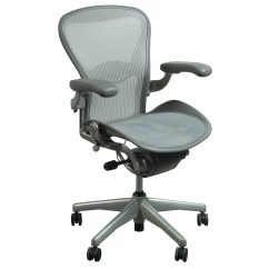 Aeron Chair Sizes Folding Liquidation Herman Miller Used Size C Task Quartz