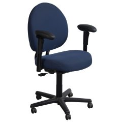 Office Chair For Tall Man Round Padded Folding Chairs Steelcase Criterion Plus Used Big Task Blue